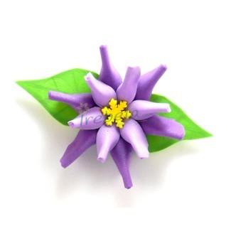 Broche flor morada y lila de goma eva