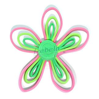 Broche flor multicolor de goma eva