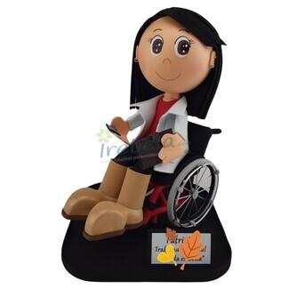 Fofucha en silla de ruedas