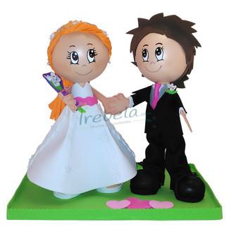 Pareja Fofuchos Novios de boda